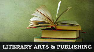 Literary Arts & Publishing, image of a e-book on tablet